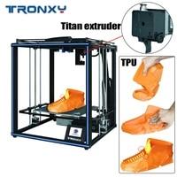 tronxy x5sa pro upgraded diy titan extruder double axis guide rail 3d printer kit build plate resume power failure imprimante 3d