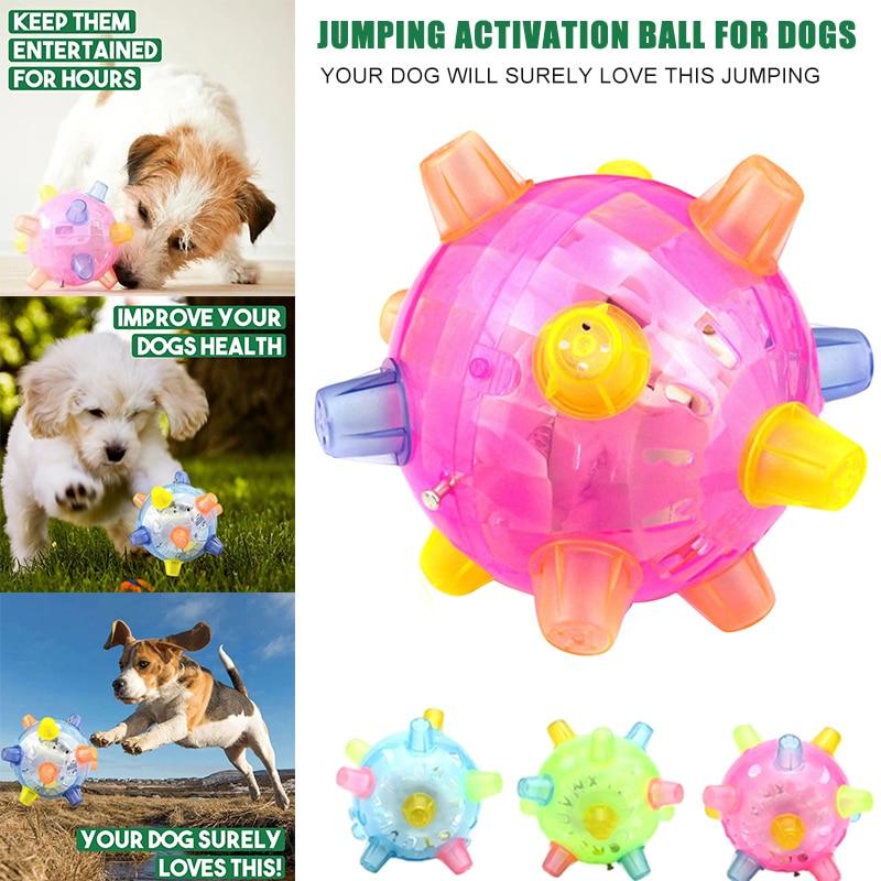 Springen Aktivierung Ball für Hunde Blinkende Kugel Licht Sounds Jump Automatisch YH-17