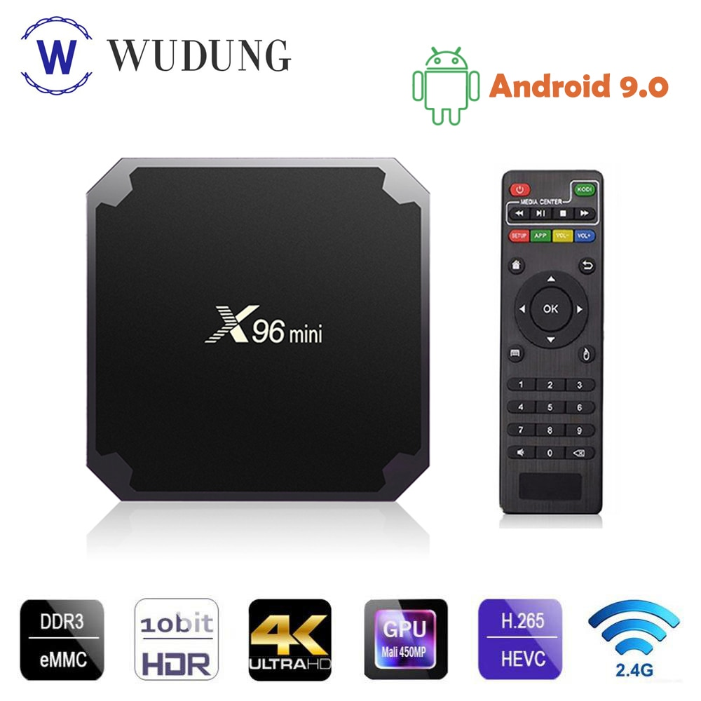X96 Mini TV BOX Android 9,0 2GB 16GB Amlogic S905W Quad Core 2,4 GHz WiFi 4K HD Reproductor Multimedia Inteligente X96mini Set Top Box PK X96.