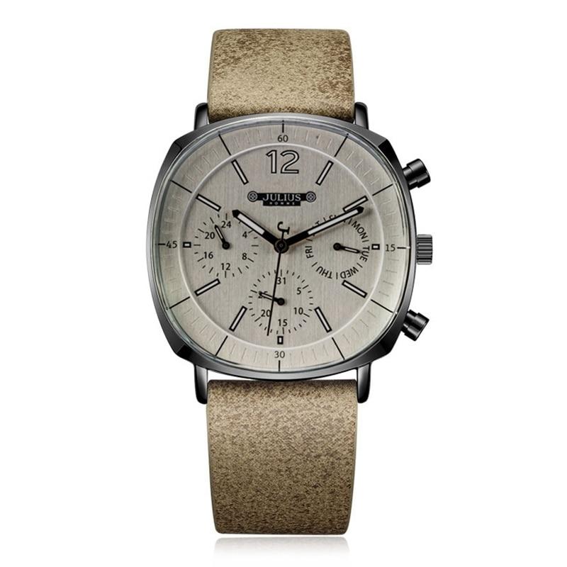 Men Leather Band Swiss Quartz Watch Men's Calendar Luminous Waterproof Wristwatch Man Big Style Sport Wrist Watches Gift Clock