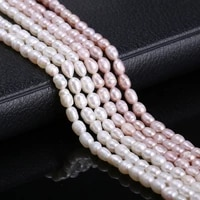 100 natural freshwater pearl beading purple rice shape loose pearls for diy charms bracelet necklace jewelry making strand 36cm