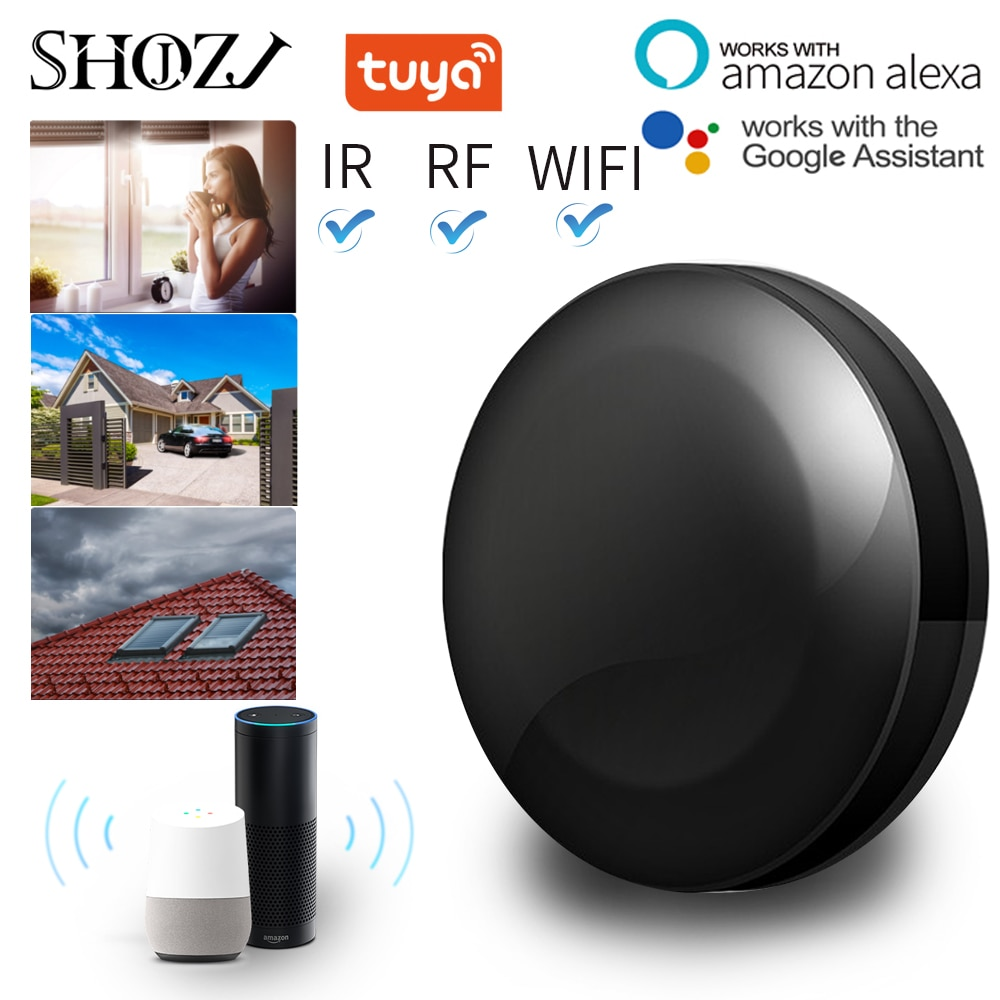 TUYA Universal Smart Remote Voice Control Alexa Google HOME Smart Home Smart Home Automation WIFI+IR+RF Support DOOYA