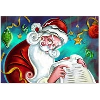 new arrival custom christmas canvas painting poster home decor cloth fabric wall art poster for living room 20x30cm27x40cm