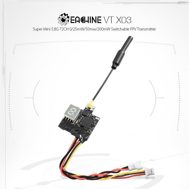 1 Uds Eachine VTX03 Super Mini 5,8G 72CH 0/25mW/50mw/200mW FPV transmisor remoto Control