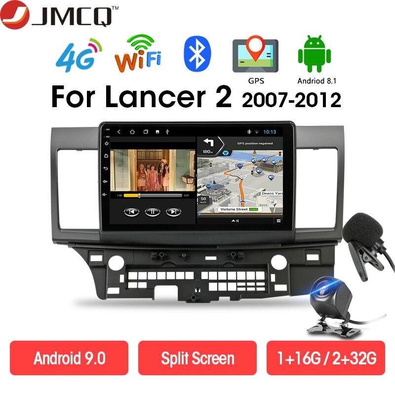 JMCQ Android автомобильный радио головное устройство мультимедийный плеер для Mitsubishi Lancer-ex 2 2007-2017 Bluetooth 4G сеть GPS навигация WIFI