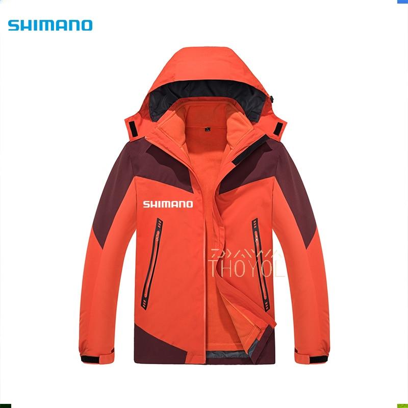 Shimano Fishing Clothes Men Hooded Outdoor Sports Hiking Fishing Jacket Waterproof Wear Outdoor Windproof Fishing Clothing Men enlarge