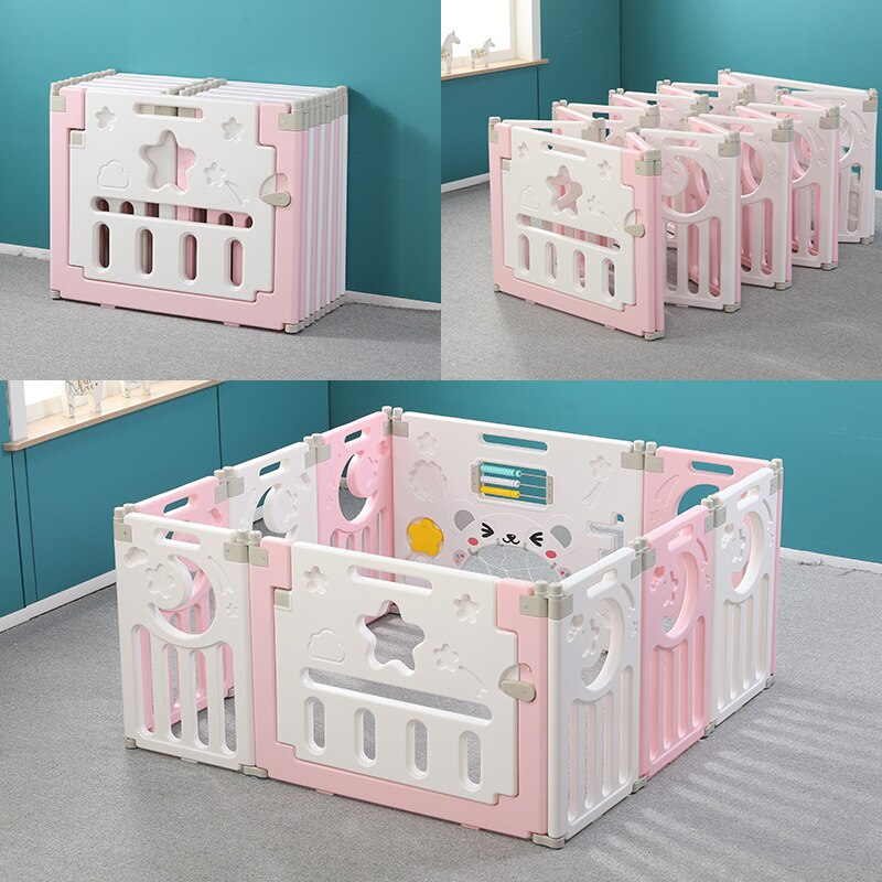 Детская складная игровая ограда, детская пластиковая безопасная домашняя игровая площадка для ползания для младенцев