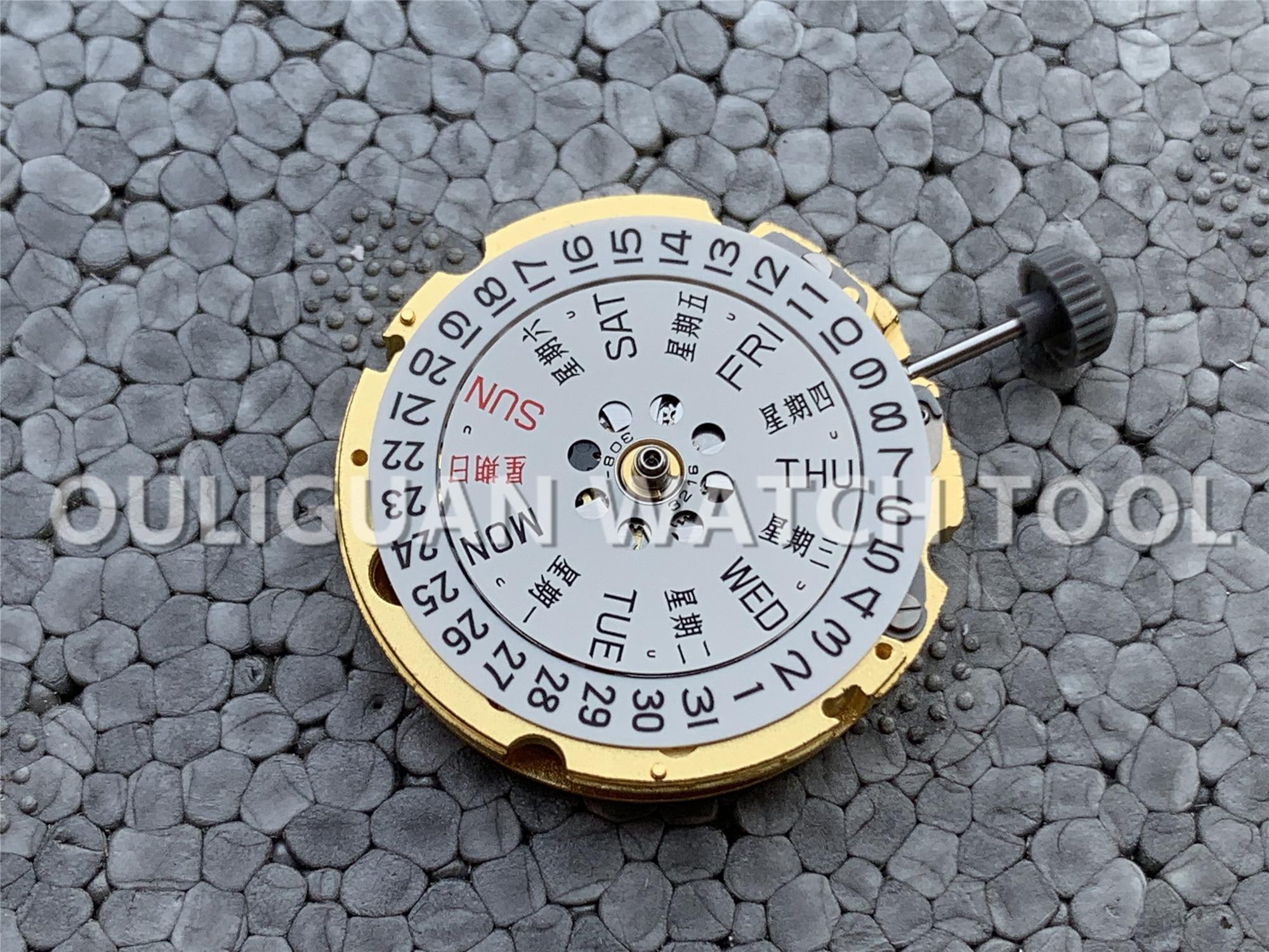 Movimiento Original japonés reemplazo para MIYOTA 8200 movimiento automático 21 joyas piezas de reparación de relojes doble/calendario único