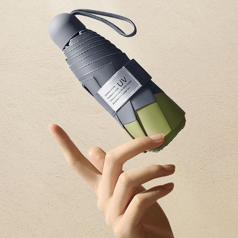 8 Ribs Mini Umbrella Windproof anti-UV Protection 5Folding Umbrella Portable Travel Rain Women Umbre