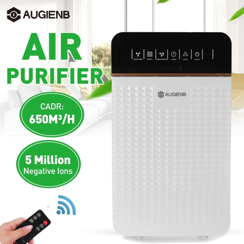 220V EU Air Purifier HEPA Filter Negative Ion Air Cleaner Remove Formaldehyde PM2.5 Smoke Dust Automatic Monitors Remote Control air purifier household negative ion air filter portable carry on necklace remove smoke formaldehyde purify air