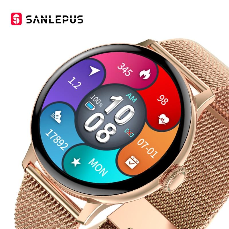 SANLEPUS 390*390 HD Screen Smart Watch 2021 Women Men Smartwatch IP68 Waterproof Heart Rate Monitor