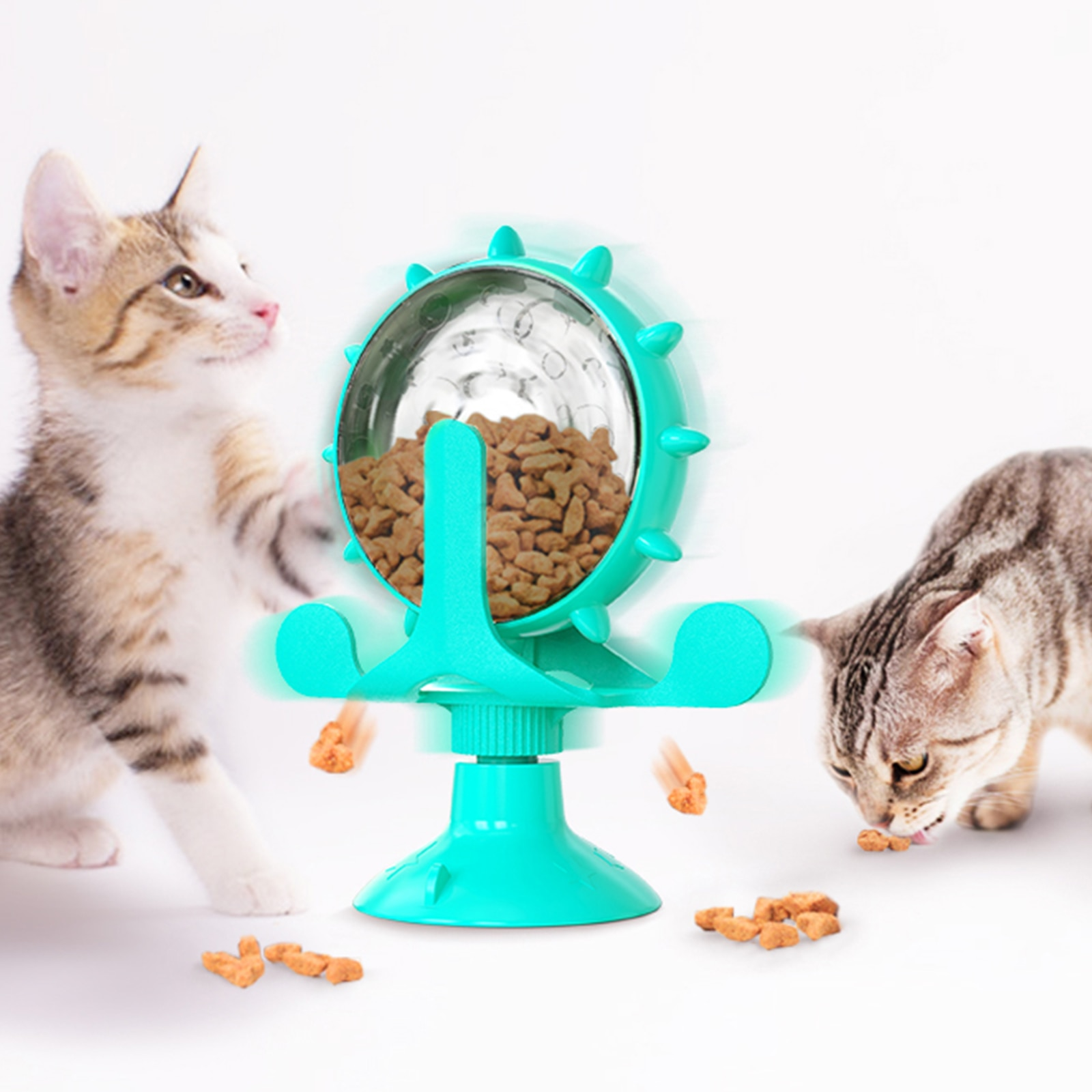 cat dry food pro plan light low calorie for cats turkey 1 5 kg Making money round cat toys Rotating Windmill Cat Toys for Indoor Cats, Interactive Cat Puzzle Toy, Cat Food Dispenser Toy
