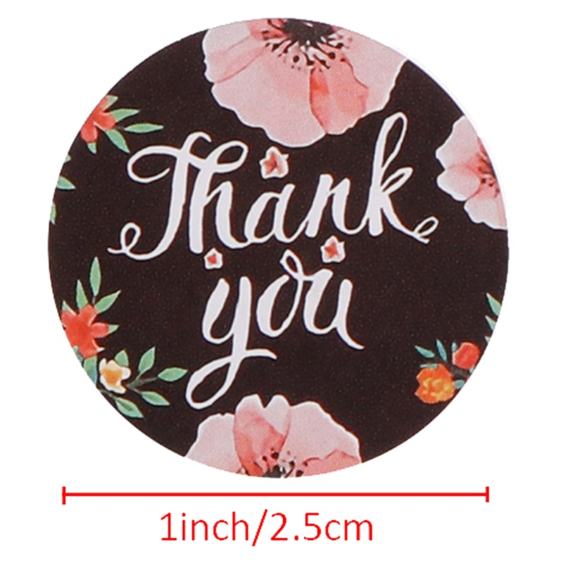 1Roll/500Pcs 8 kinds of styles thank you stickers per roll stationery sticker Thank you Adhesive Stickers Sealing Label Stickers