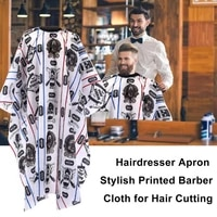 1pcs simple and stylish adjustable white hair salon striped cloth printed shawl household apron haircut adult cloth barber cloth