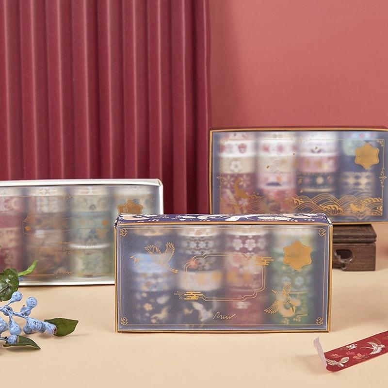 20 rolls of bronzing brocade hand account Washi tape set masking decoration DIY materials