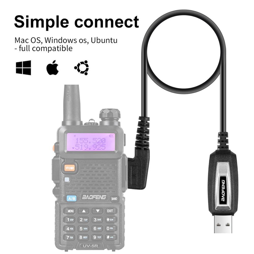 BAOFENG 2 Pins Plug USB Programming Cable for Walkie Talkie for UV-5R serise BF-888S Kenwood wouxun Walkie Talkie Accessories