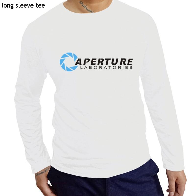 Nueva Camiseta de algodón, camisetas de manga larga, camiseta Portal Aperture Laboratories The Cake Is A Lie Half Life, tops de otoño y primavera