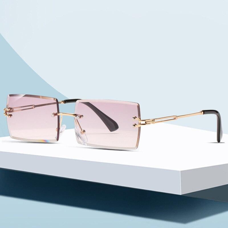 2020 nova praça sem moldura corte-borda óculos de sol europeu e americano moda óculos de sol feminino cor progressiva