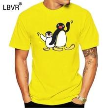 Midnite Star Pingu Mens T Shirts Penguin Series Cartoon Meme Kids 80s 90s Retro Cute Funny Funny Tees T-Shirts 100% Cotton