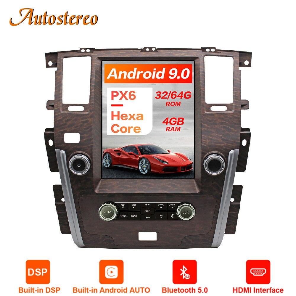 Estilo Tesla de navegación para Android 13,6 de 9,0 pulgadas, 4 + 64 GPS para coche, para NISSAN PATROL Y62 2010 +, unidad central de radio automático, reproductor Multimedia ESTÉREO