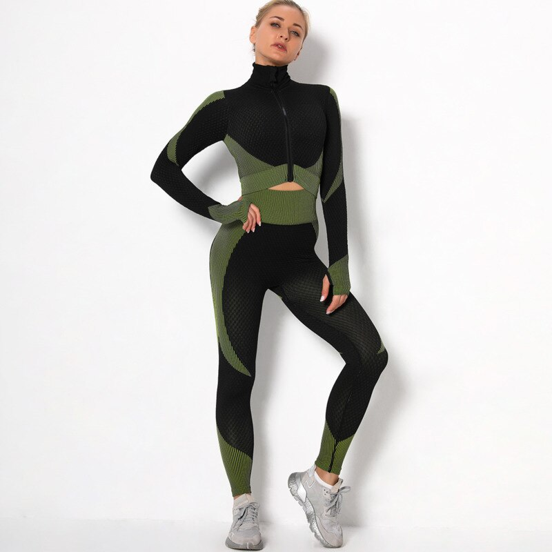 Women Long Sleeve Running Shirts Sexy Exposed Navel Workout T-shirts Solid Sports Shirts Quick Dry Fitness Gym Crop Tops