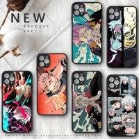 jujutsu kaisen phone case matte transparent for iphone 11 12 pro mini xs xr x max 7 8 plus tpu soft tpu coques shell cover funda