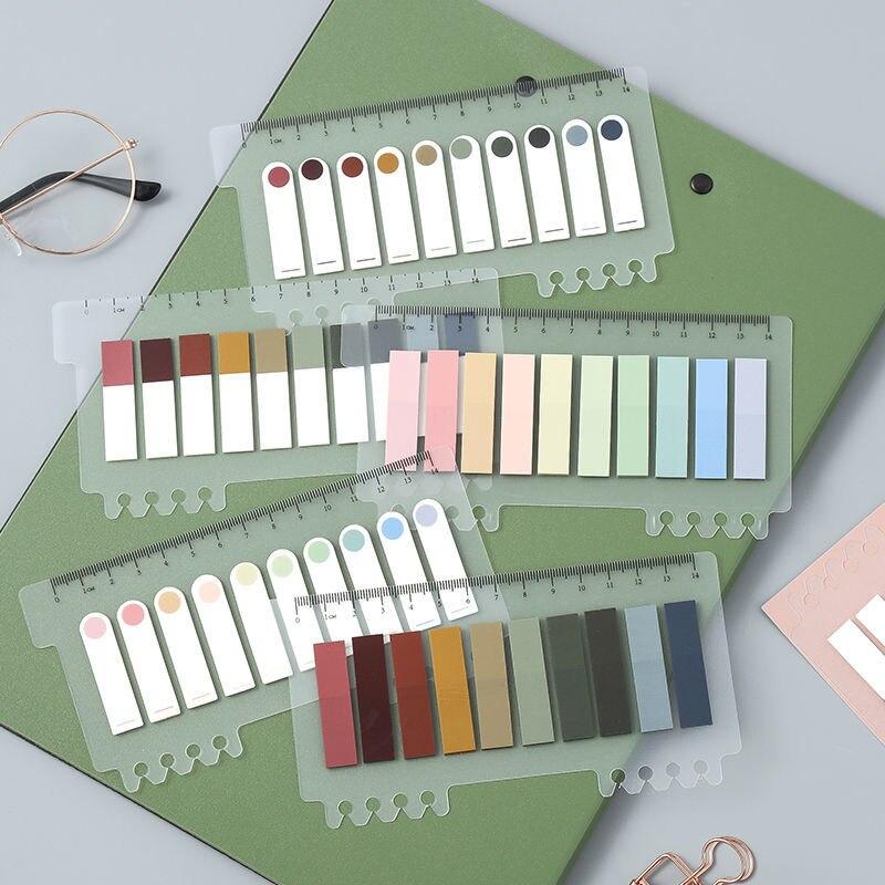 Bloc de notas recordatorias adhesivas coloridas, Bloc de notas, suministros de papelería...