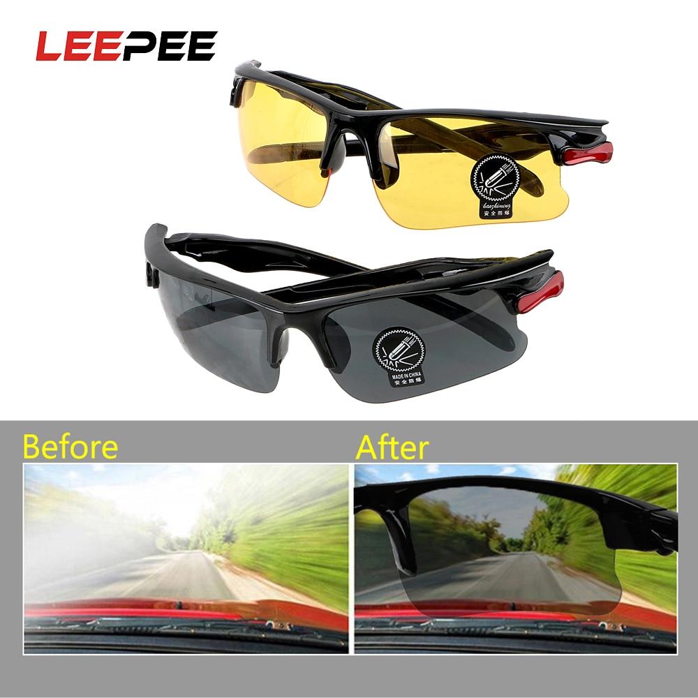 LEEPEE Driving Glasses Sunglasses Night Vision Drivers Goggles Anti-Glare Protective Gears Glasses Car Interior Accessories