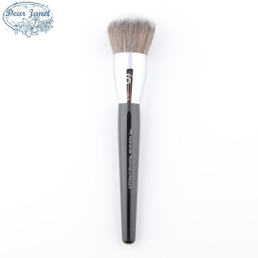 S #61 de gran tamaño en polvo pinceles de maquillaje Pro integral polvo cepillo contorno rubor cosmética herramientas pelo sintético mango de madera