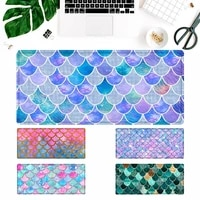pattern watercolor glitter mermaid scales gaming mouse pad gamer keyboard maus pad desk mouse mat game accessories for overwatch