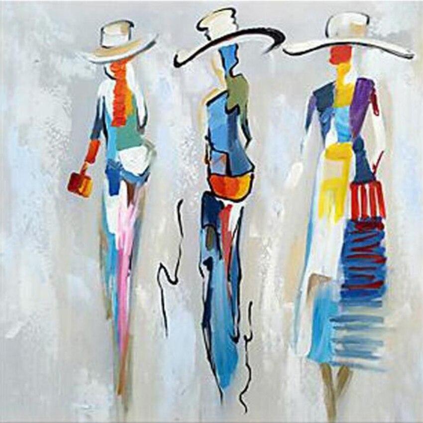 Pintura al óleo abstracta colorida pintada a mano por un hábil pintor, pintura al óleo hecha a mano para mujer, para pared arte portarretrato, paleta de cuchillos, lienzo