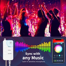 Tuya Smart-Life Strips Lights Waterproof LED Timing Light with Remotes Control Voice Remotes Control
