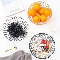 nordic simple wrought iron fruit plate creative home living room dining table storage basket desktop display fruit plate