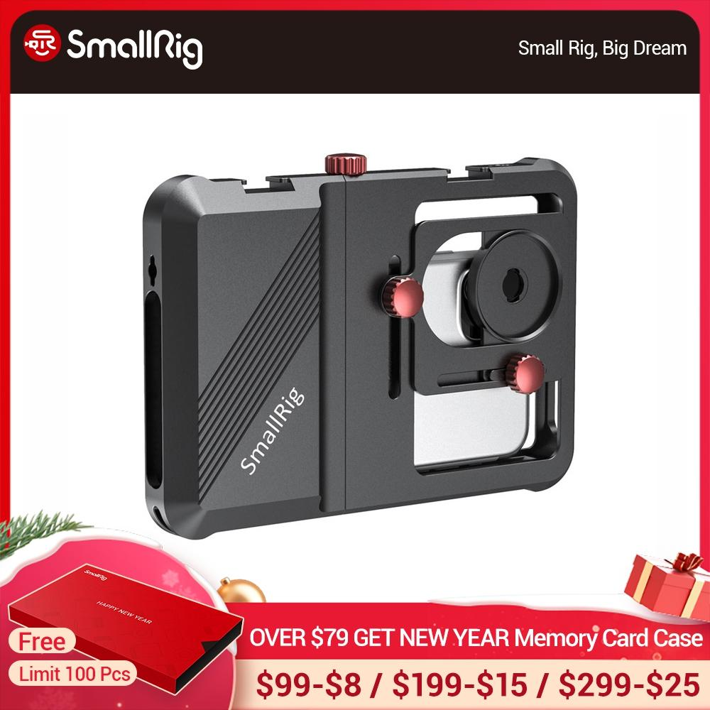 SmallRig Professionelle Universal Handy Käfig Vlogging Käfig Für Smartphone Mit 63,5mm zu 87,5mm Palette-2494