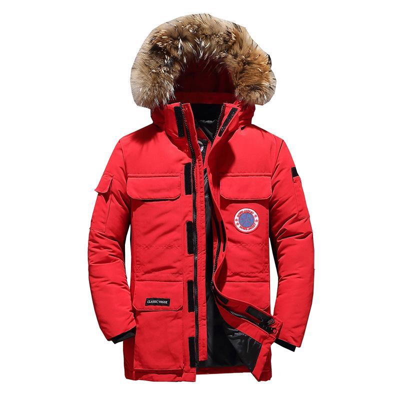 90% down jackets men's winter jacket fashion thick warm white duck fur parkas down casual jackets man dwaterproof water