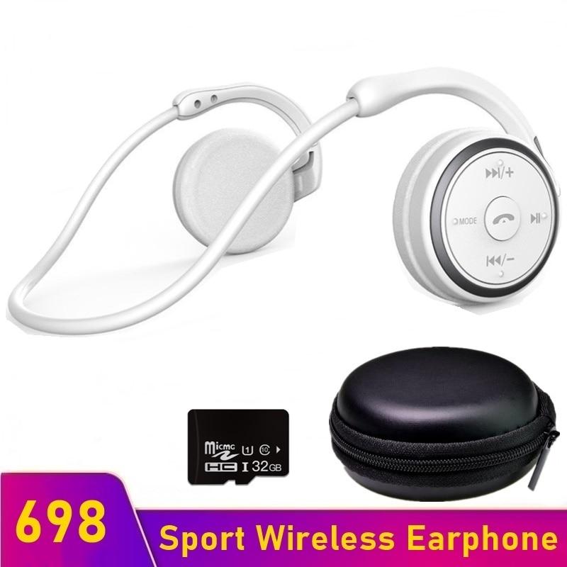 Tongdaytech 698 Bluetooth-compatible Sports Earphone Waterproof Fone Auriculares Wireless Headphones Support TF Mp3 FM Radio