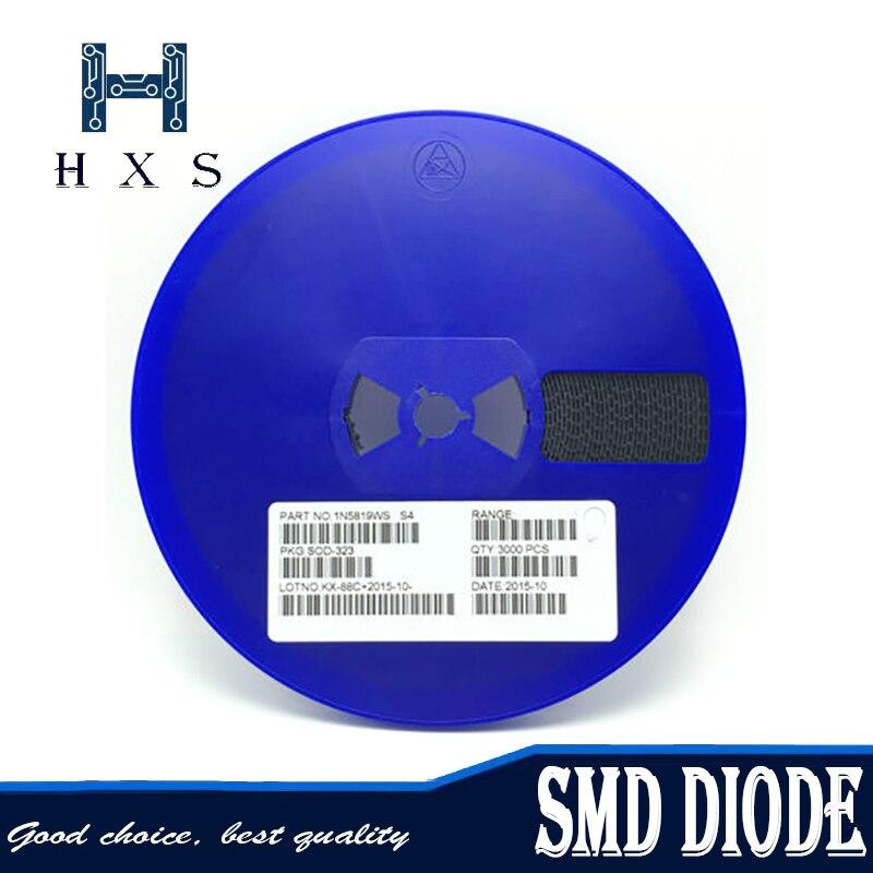 3000 قطعة SMD ديود 0805 SOD-123 1N5819 1N4007 1N4148 SOD123 SOD-323 1206 1N4148WS 1N5819WS B5819WS SOD323