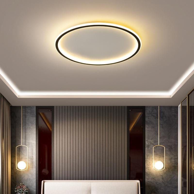 NEO Gleam-مصباح سقف led فائق النحافة مع تطبيق RC ، تصميم حديث ، شكل مربع أو دائري ، إضاءة داخلية ، مثالي لغرفة المعيشة أو غرفة النوم ، 90-260 فولت