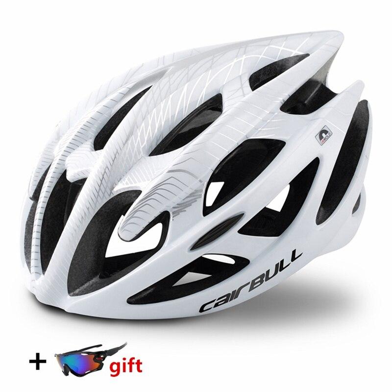 Casco ultraligero para ciclismo, transpirable, con 21 orificios, L/M