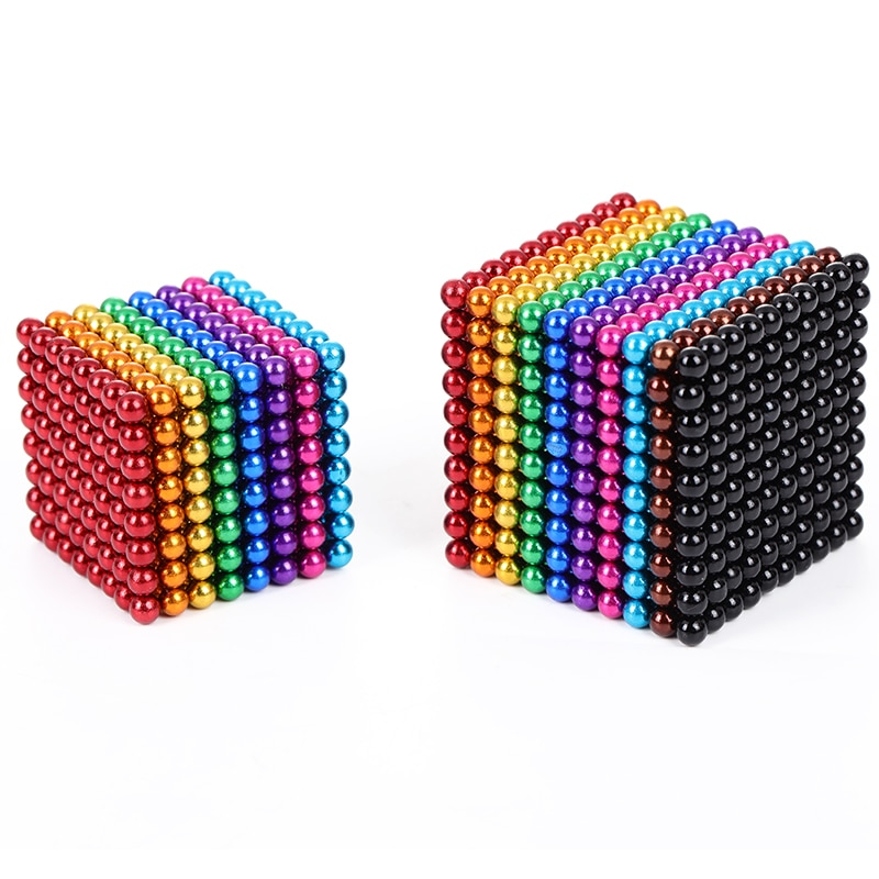 New Neodymium Metal Magic DIY Magnet Magnetic Balls Blocks 3mm / 5mm Cube Construction Building Toys Colorfull Arts Crafts Toy