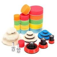 Набор инструментов для полировки автомобиля, 29 предметов, Губка для полировки, ватная подложка, набор инструментов для полировки, Аксессуар...