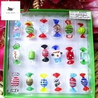Bonbons miniatures en verre  18 Types  Vintage  Style Murano  pour decoration de fete a domicile  mariage  Festival de noel  cadeaux