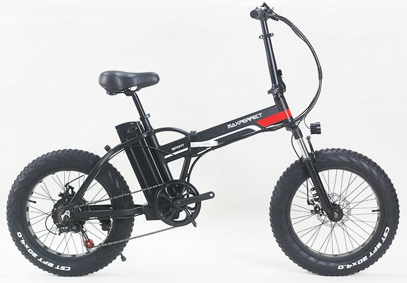 Electric Bike Maxperfec  Samsung Lithium Battery 500W 48V 15Ah  4.0 Fat  Bike Booster Bike  Folding Mens Women's Ebike No Tax