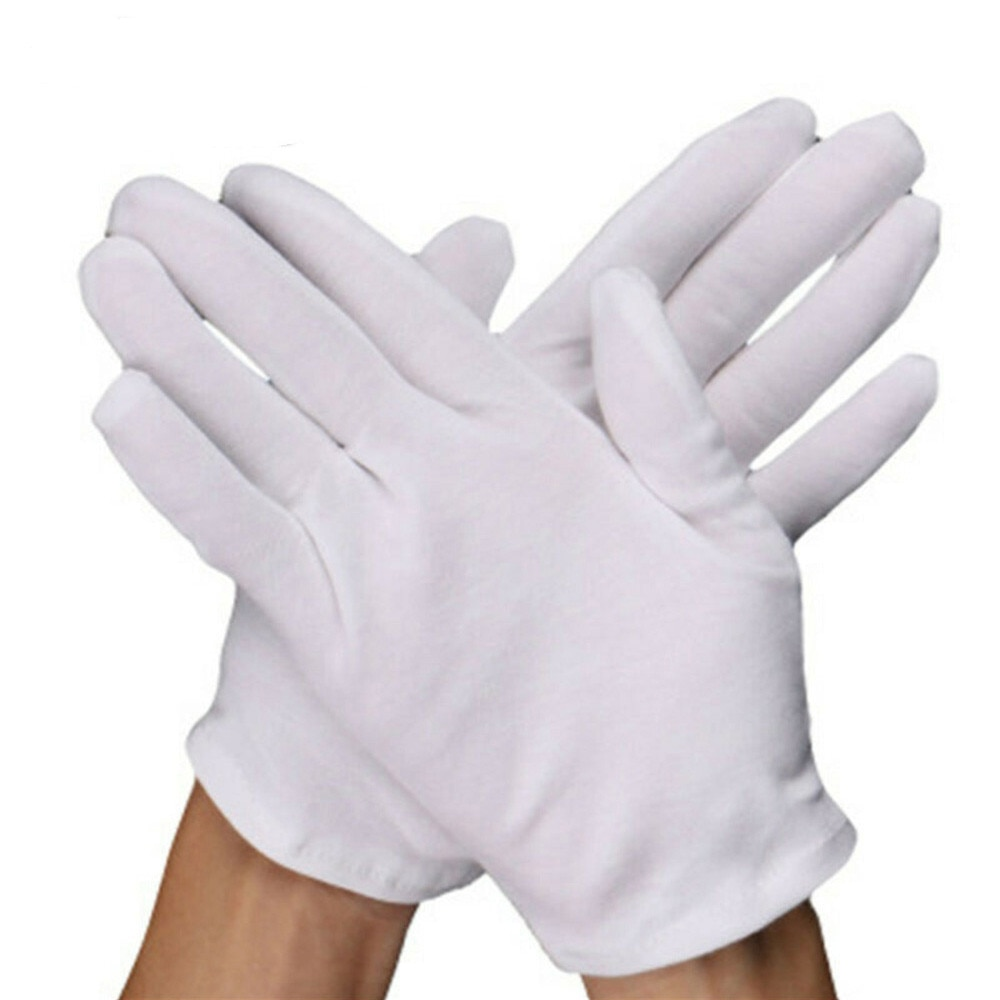 12 Pairs Cotton White Gloves General Purpose Moisturising Lining Gloves L Size enlarge