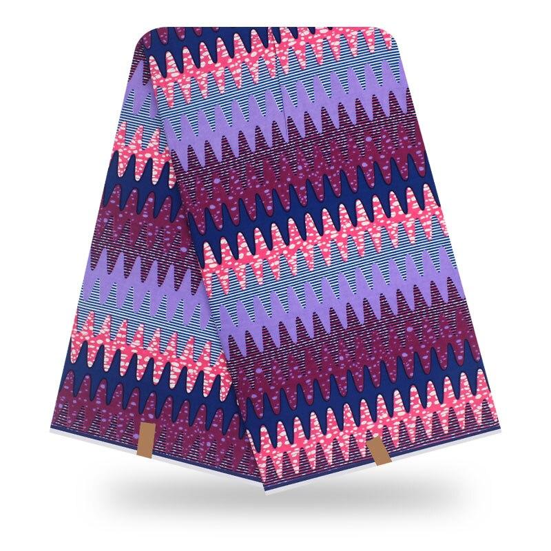Tela de impresión de cera Real Africana de algodón Ankara de 6 yardas, tela estampada de Holanda para vestidos, materiales de costura Diy