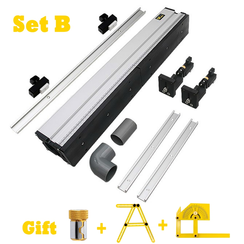WORKBRO PRO DRILL PRESS TABLE Aluminium Profile Fence Integrated Dust Collection Duct DIY Woodworking Workbenches for Router
