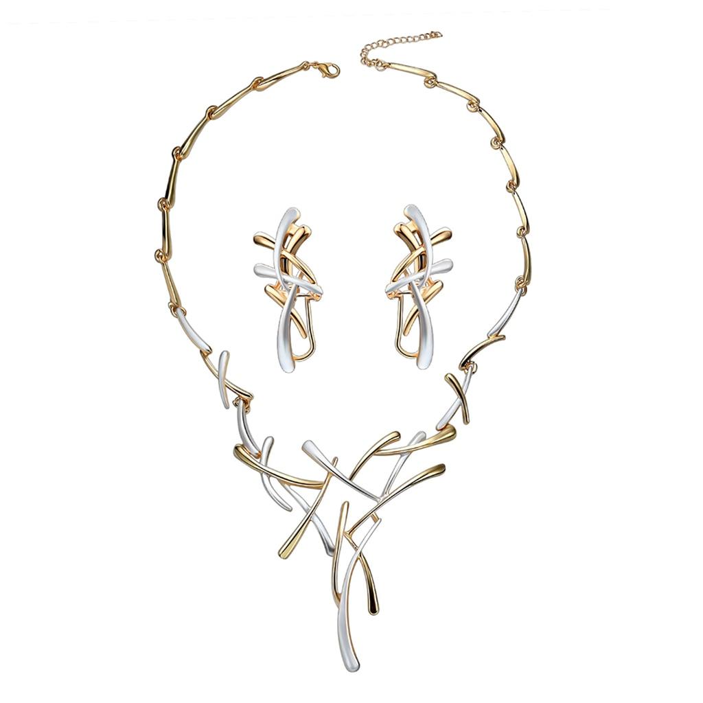 1 Juego de collar pendientes novia boda mujer joyería de lujo étnico Cruz colgante Drop Ship W2952001