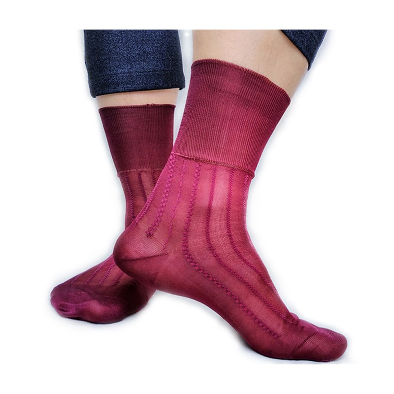 Softy Sheer Thin Nylon Silk Mens Socks Brand See Through Striped Sexy Gay Male Socks for Collection High Quality peajoa brand striped thin socks for gentlemen nylon silk socks mens sexy soft gay sexy socks fetish collection male sheer socks