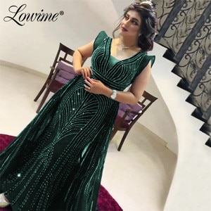 2020 Green Formal Evening Dresses Middle East Mermaid Dubai Party Gowns Robe De Soiree Long Celebrity Dresses Prom Gowns Vestido