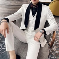 jacketvestpants handsome double breasted paisley groom tuxedos shawl collar men work suits 3 pieces promdinner blazer set